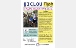 Biclou d'inscription 2021